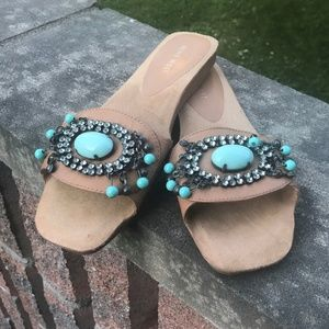 NWOT NINE WEST LEATHER SANDALS